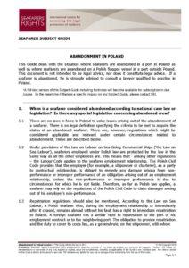 POLAND.SUBJECTGUIDE.ABANDONMENTOFSEAFARERS_2013_ENG