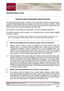 POLAND.SUBJECTGUIDE.MARITIMELIENSFORSEAFARERSWAGES_2013_ENG