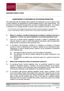 RUSSIA.SUBJECTGUIDE.ABANDONMENTOFSEAFARERS_2013_ENG