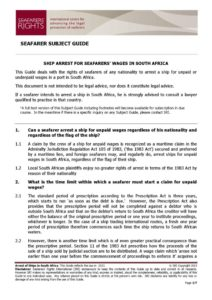 SOUTH-AFRICA-SUBJECTGUIDE-ARREST-FORSEAFARERSWAGES_2013_ENG1