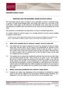 SOUTH-AFRICA.SUBJECTGUIDE.MARITIMELIENSFORSEAFARERSWAGES_2013_ENG