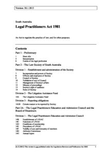 AUS_LEGISLATION_LEGAL-PRACTITIONERS-ACT-1981-SA_ENG
