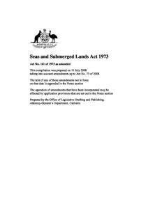 AUS_LEGISLATION_SEAS-SUBMERGED-LANDS-ACT_1973_ENG