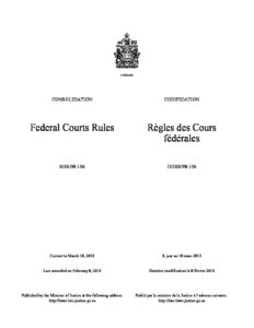 CAN_LEGISLATION_FEDRERAL-COURT-RULES_2013_ENG-FRA