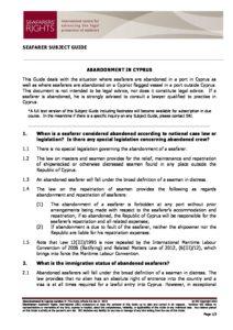 CYPRUS.SUBJECTGUIDE.ABANDONMENTOFSEAFARERS_2013_ENG