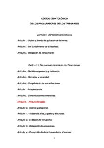 ESP_CODE-OF-CONDUCT_CODIGO-DEONTOLOGICO-DE-LOS-PROCURADORES-DE-LOS-TRIBUNALES_2009_ESP