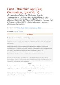 INTERNATIONAL_TREATY_ILO-CONVENTION-C007_1920_ENG