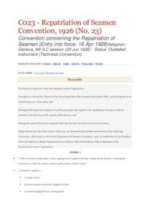 INTERNATIONAL_TREATY_ILO-CONVENTION-C023_1926_ENG