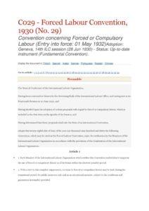 INTERNATIONAL_TREATY_ILO-CONVENTION-C029_1932_ENG
