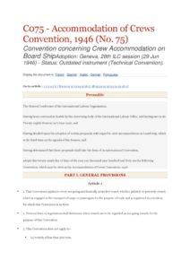 INTERNATIONAL_TREATY_ILO-CONVENTION-C075_1946_ENG