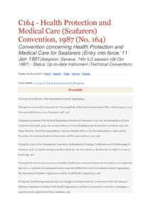 INTERNATIONAL_TREATY_ILO-CONVENTION-C164_1987_ENG