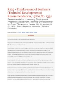 INTERNATIONAL_TREATY_ILO-REC-R139_1970_ENG