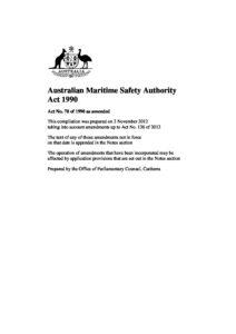 AUS_LEGISLATION_AUSTRALIAN-MARITIME-SAFETY-AUTHORITY-ACT-1990_2012_ENG