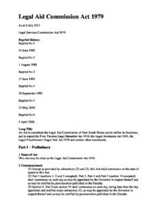 AUS_LEGISLATION_LEGAL-AID-COMMISSION-ACT-1979-NSW_ENG