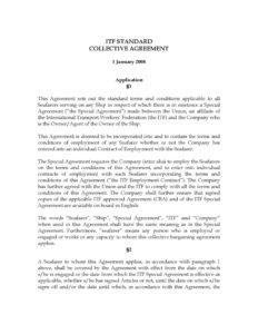 INTERNATIONAL_TREATY_ITF-STD-COLLECTIVE-AGRMT_2008_ENG