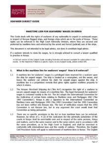 KENYA.SUBJECTGUIDE.MARITIMELIENSFORSEAFARERSWAGES_2013_ENG