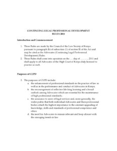 KEN_RULES_CONTINUING-LEGAL-PROFESSIONAL-DEVELOPMENT-RULES_2011_ENG