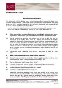 LIBERIA.SUBJECTGUIDE.ABANDONMENTOFSEAFARERS_2013_ENG