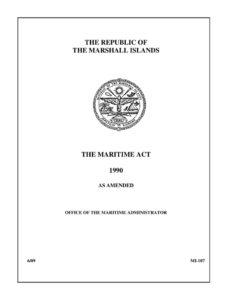 MHL_LEGISLATION_MARSHALL-ISLANDS-MARITIME-ACT_1990_ENG