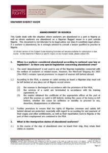 NIGERIA.SUBJECTGUIDE.ABANDONMENTOFSEAFARERS_2013_ENG