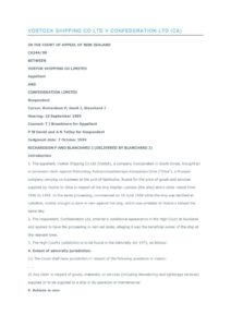 NZL_CASE_VOSTOCK-SHIPPING-CO-LTD-V-CONFEDERATION-LTD_1999_ENG