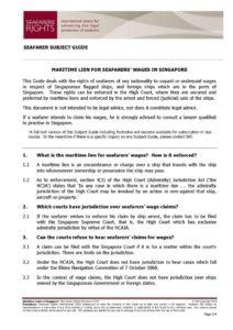 SINGAPORE.SUBJECTGUIDE.MARITIMELIENSFORSEAFARERSWAGES_2013_ENG