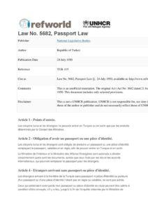 TUR_LEGISLATION_PASSPORT-LAW_1950_FRA1