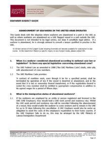 UAE.SUBJECTGUIDE.ABANDONMENTOFSEAFARERS_2013_ENG