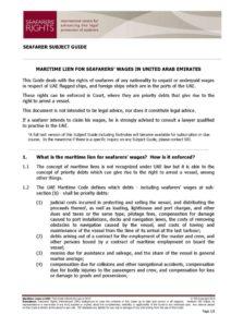 UAE.SUBJECTGUIDE.MARITIMELIENSFORSEAFARERSWAGES_2013_ENG