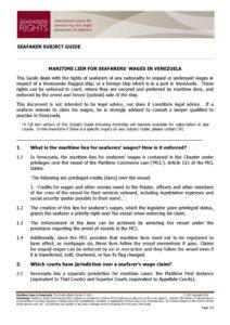 VENEZUELA.SUBJECTGUIDE.MARITIMELIENSFORSEAFARERSWAGES_2013_ENG