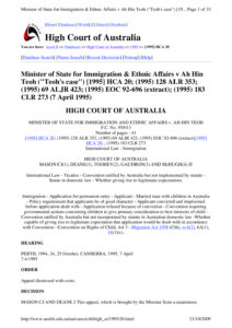 AUSTRALIA_CASE-LAW_MINSTER-OF-STATE-FOR-IMMIGRATION-AND-ETHNIC-AFFAIRS-V-AH-HIN-TEOH_1995_ENG