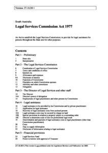 AUS_LEGISLATION_LEGAL-SERVICES-COMMISSION-ACT-1977-SA_ENGLISH