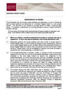 CANADA-SUBJECTGUIDE-ABANDONMENOFSEAFARERS_2013_ENG1