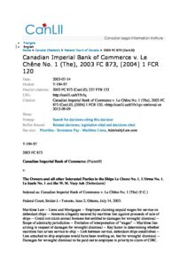 CAN_CASE_CANADIAN-IMPERIAL-BANK-OF-COMMERCE-V-LE-CHENE-NO.1-THE_2003_ENG