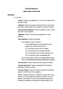 CAN_LEGISLATION_BRITISH-COLUMBIA-LIMITATION-ACT_1996_ENG