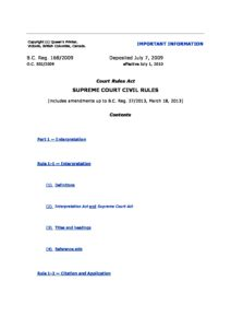 CAN_LEGISLATION_BRITISH-COLUMBIA-SUPREME-COURT-CIVIL-RULES_2009_ENG