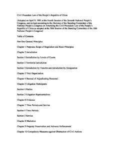 CHN_LEGISLATION_CIVIL-PROCEDURE-LAW_1991_ENG