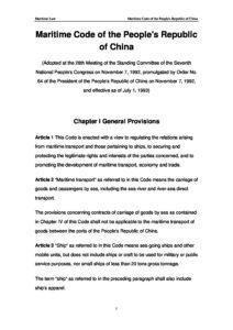 CHN_LEGISLATION_MARITIME-CODE_1992_ENG
