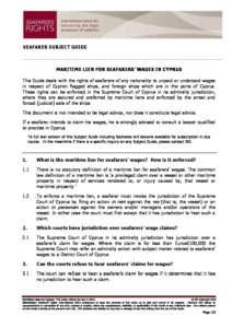 CYPRUS.SUBJECTGUIDE.MARITIMELIENSFORSEAFARERSWAGES_2013_ENG