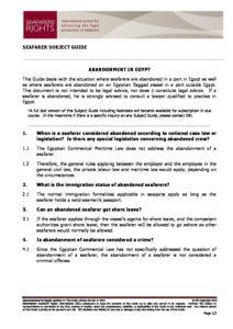 EGYPT.SUBJECTGUIDE.ABANDONMENTOFSEAFARERS_2013_ENG