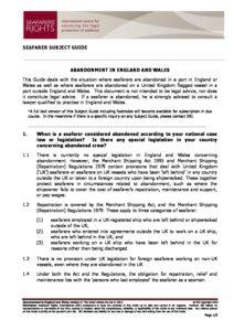 ENGLAND.SUBJECTGUIDE.ABANDONMENTOFSEAFARERS_2013_ENG