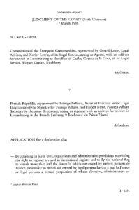 EUROPE_CASE-LAW_THE-COMMISSION-V-FRANCE_1996_ENG