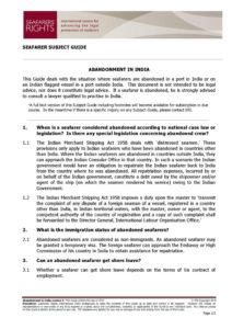 INDIA.SUBJECTGUIDE.ABANDONMENTOFSEAFARERS_2013_ENG