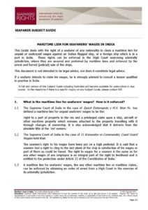 INDIA.SUBJECTGUIDE.MARITIMELIENSFORSEAFARERSWAGES_2013_ENG