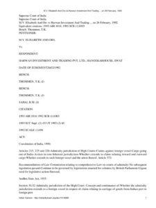 IND_CASE_M.V.-ELISABETH_AND_ORS_VS_HARWAN_INVESTMENT_AND_TRADING_1992_ENG