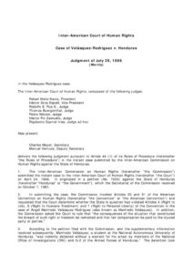 INTERNATIONAL_CASE_VELASQUEZ-RODRIGUEZ-V-HONDURAS_1988_ENG