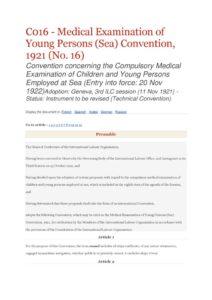 INTERNATIONAL_TREATY_ILO-CONVENTION-C016_1921_ENG