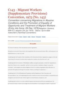 INTERNATIONAL_TREATY_ILO-CONVENTION-C143_1975_ENG