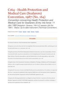INTERNATIONAL_TREATY_ILO-CONVENTION-C164_1987_ENG