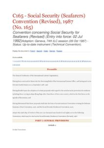 INTERNATIONAL_TREATY_ILO-CONVENTION-C165_1987_ENG